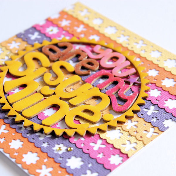 cardstock card - chipboard