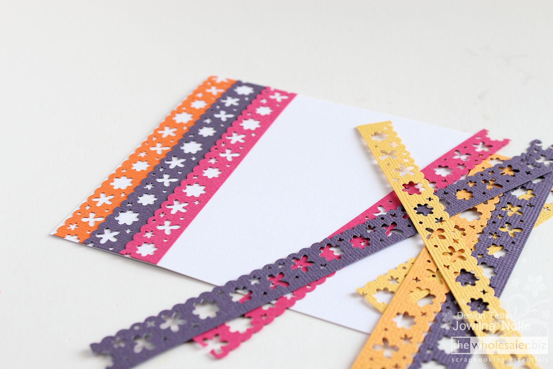 cardstock card - step 2