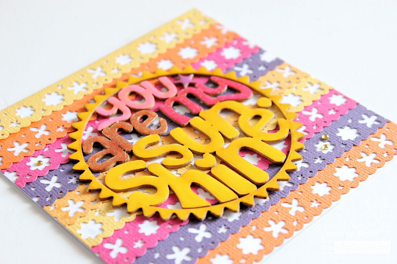 cardstock card - sunshine
