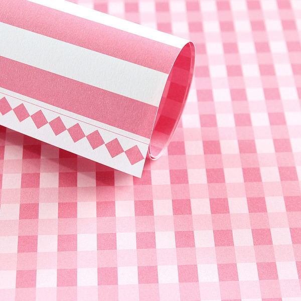 LPP0011 - Lady Pattern Paper - Pink Mary - Gingham