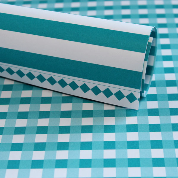 Lady Pattern Paper - LPP0012 - Basic Essentials - Gingham - Intense Teal