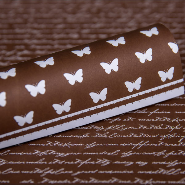 Lady Pattern Paper - LPP0038 - Basic Essentials - Script - Chocolate Chilli