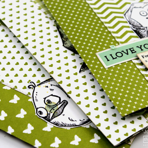 Lady Pattern Paper - hello CARDS in 10 minutes - Green Chartreuse