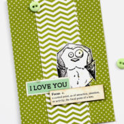 Lady Pattern Paper - hello CARDS in 10 minutes - Liewe Hexie