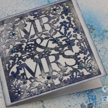 Xcut Mr & Mrs Card