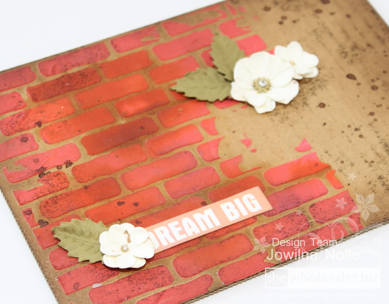Brick Stencil - Jowilna 101 - Dream Big