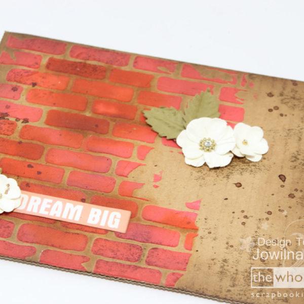 Brick Stencil - Jowilna 101 - Tutorial