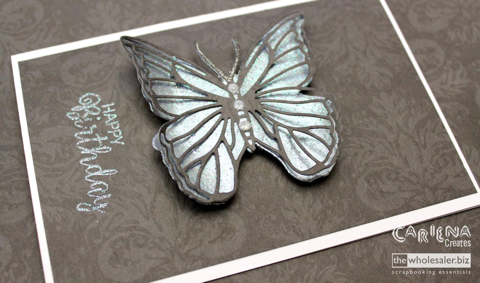 Heat Embossed Butterfly – Cariena Creates
