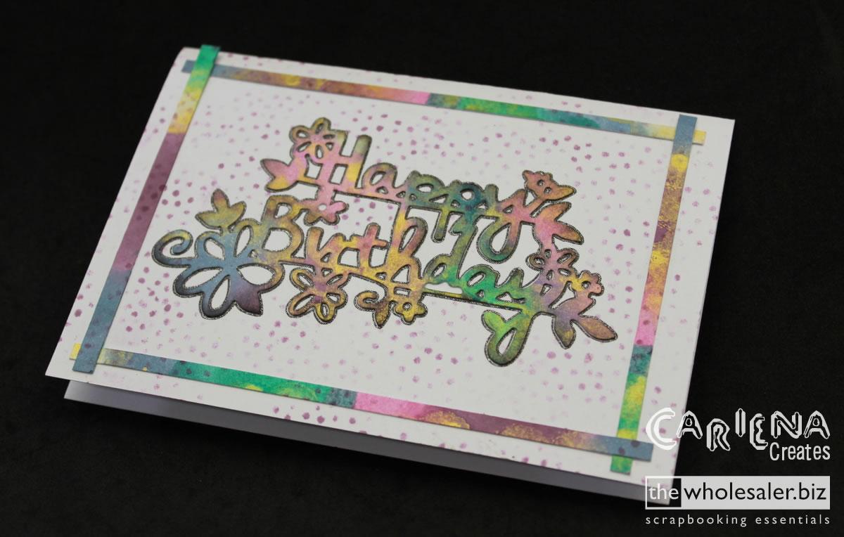 Beautifully Inked Rainbow Card – Cariena Creates