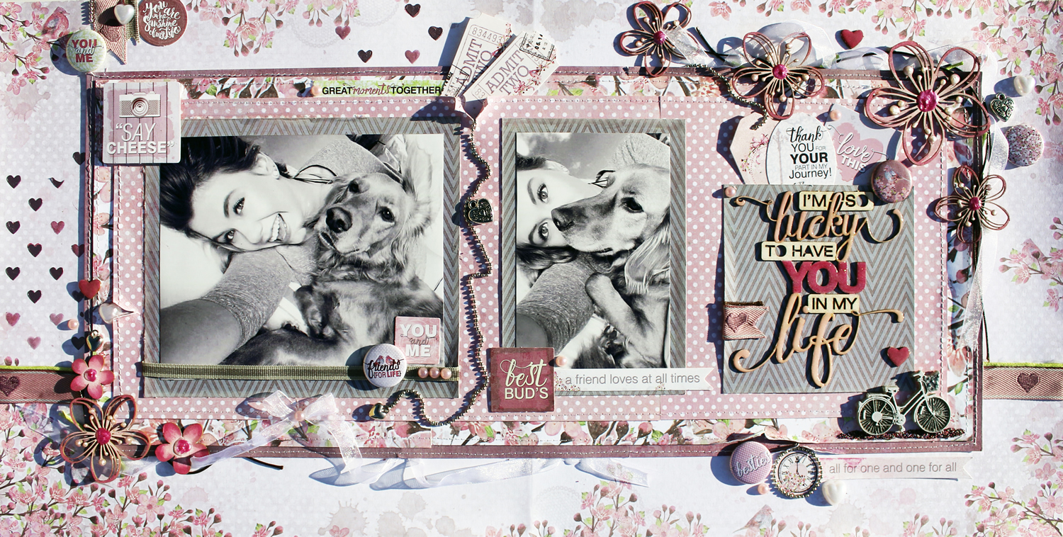 Celebr8 Forever Friends Layout