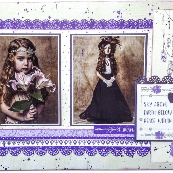 Lady Pattern Paper - Lily Daydream - Estelle Layout