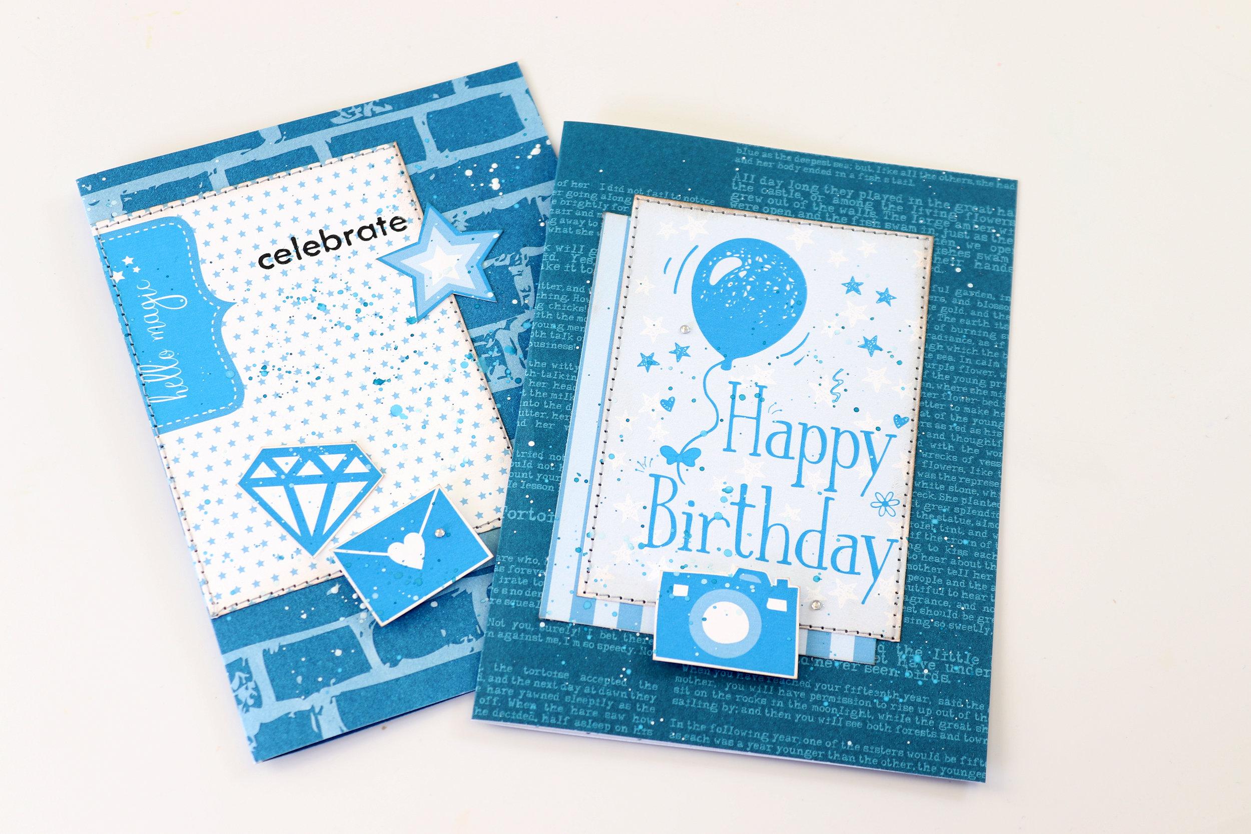 Kunsvlyt Lady Pattern Paper Dazzling Blue