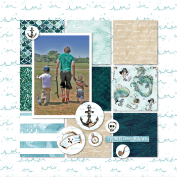 Lady Pattern Paper - Ahoy Boy - Layout