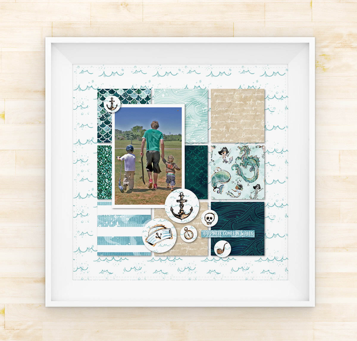 Lady Pattern Paper - Ahoy Boy - Single Page Layout