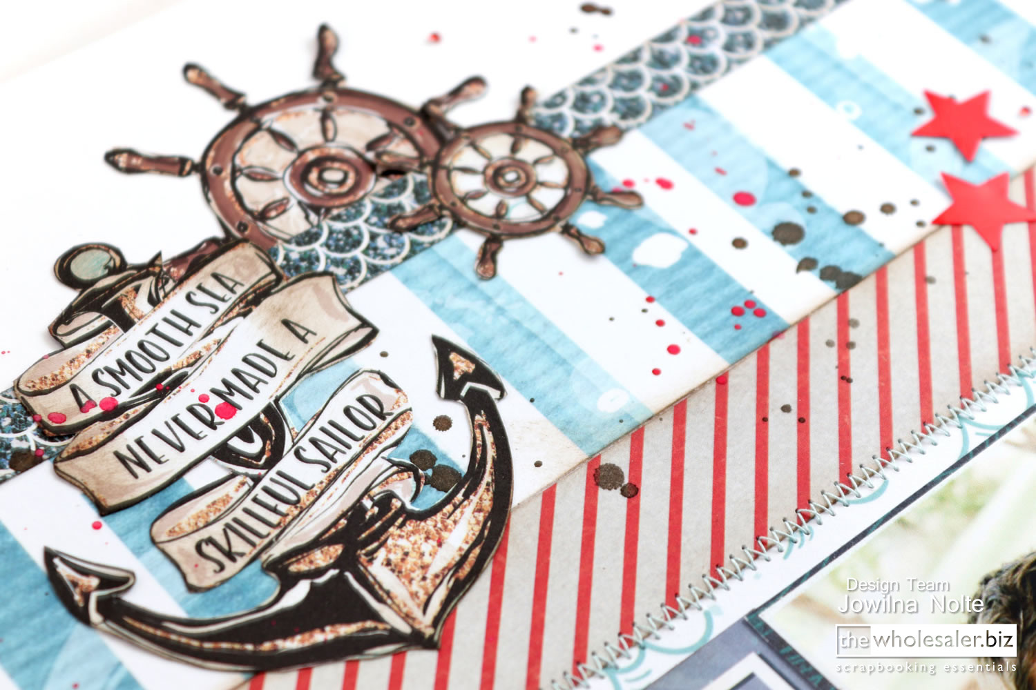 Lady Pattern Paper - Ahoy Boy Layout - Sailor