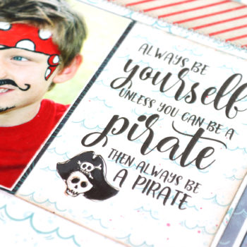 Lady Pattern Paper - Ahoy Boy Layout - Pirate