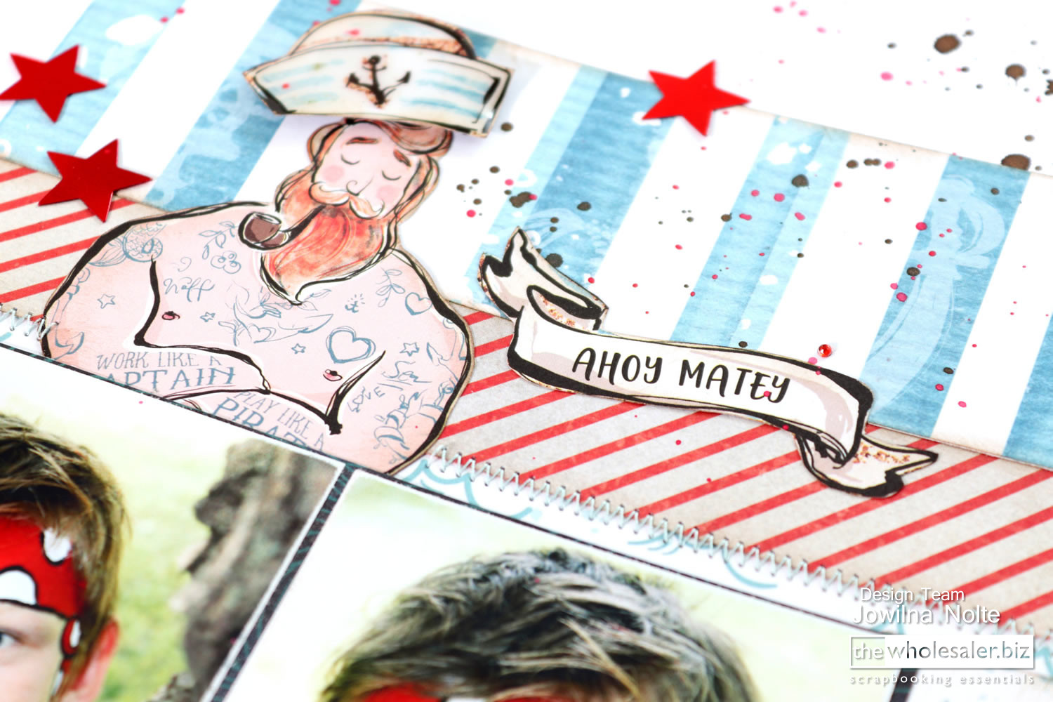 Lady Pattern Paper - Ahoy Boy Layout - Merman