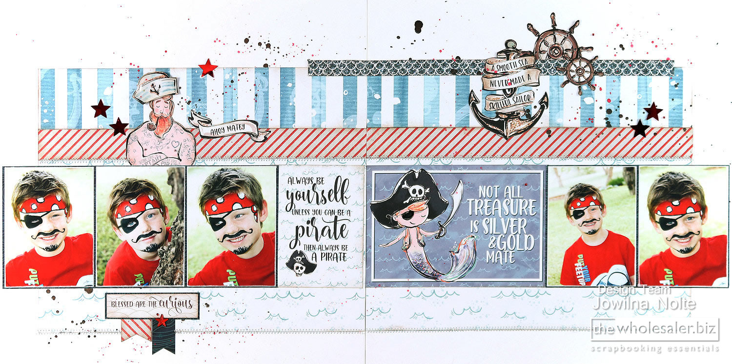 Lady Pattern Paper - Ahoy Boy Layout - Treasure Layout