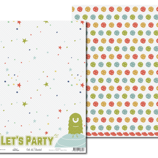 LPPO0061 - Lady Pattern Paper - Monsters in Space - Space Party