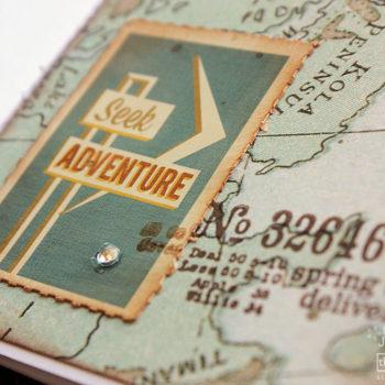 BasicGrey Carte Postale Passport Stamps