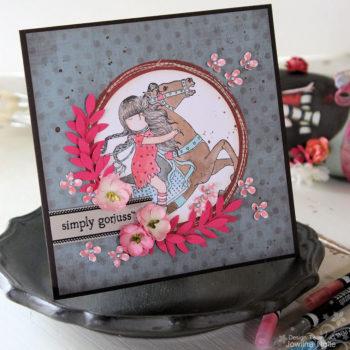 Simply Gorjuss Horsey Card