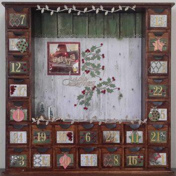 Celebr8 - Wooden Blank Advent Box Decorated