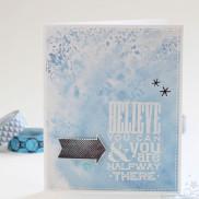 Memento LUXE Ink Technique - Believe Card