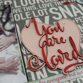Valentine Scrapbook Layout Die-Cuts
