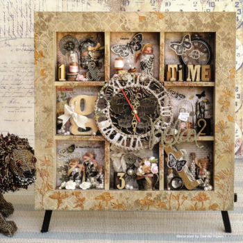 Celebr8 - Clock Decorated Wooden Blank