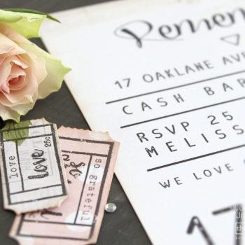 DIY Wedding Part Two - Invite Tickets