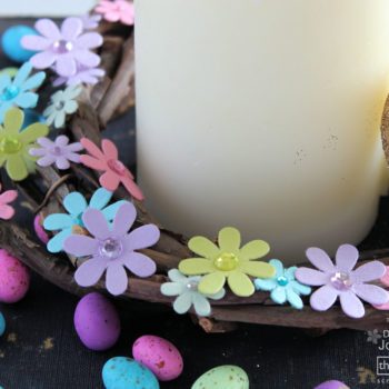 Easter Candle Display - Little Flowers