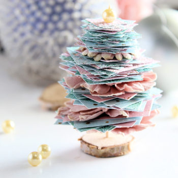 Miniature Christmas Trees - Pink and Blue