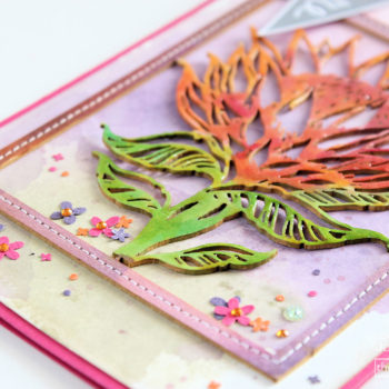 ink pads chipboard card