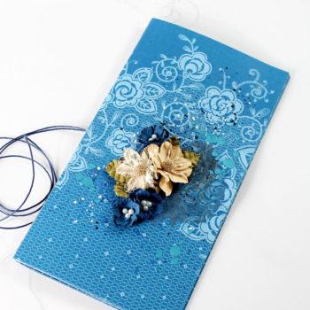 Lady Pattern Paper Dazzling Blue Journal